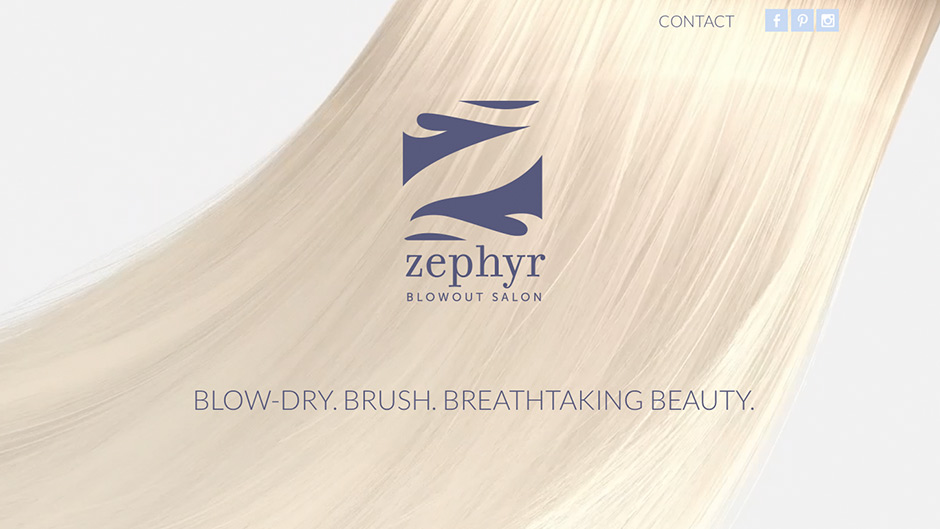snap advertising zephyr blow dry salon