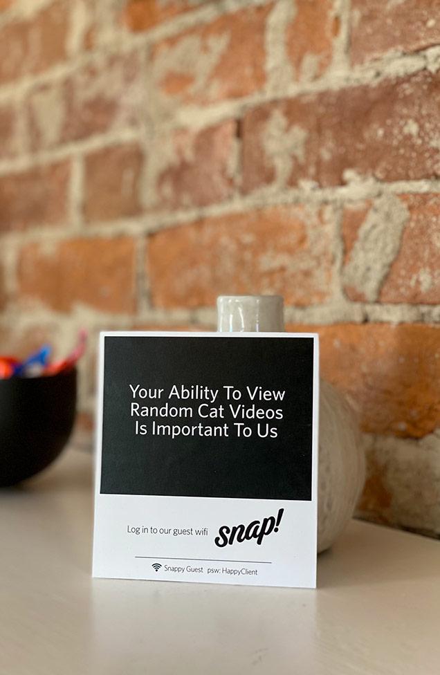 Snap Office Guest WiFi